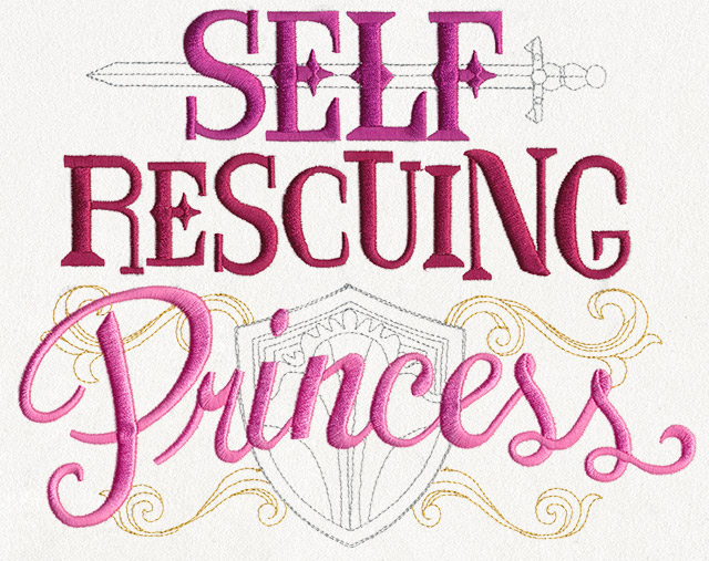 Self Rescuing Princess Urban Threads Unique And Awesome