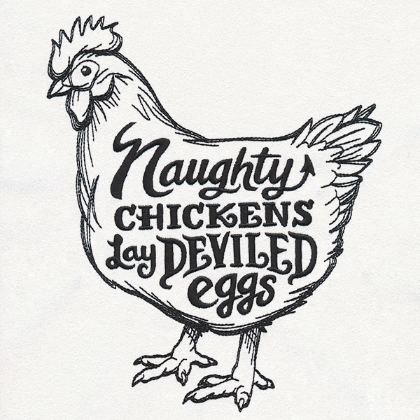 Naughty Chickens Urban Threads Unique And Awesome Embroidery Designs