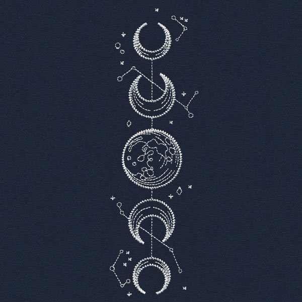 Vintage Celestial - Moon Phases | Urban Threads: Unique and