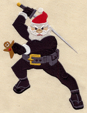 ninja santa urban threads unique and awesome embroidery