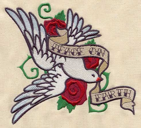 Peace Dove Tattoo Urban Threads Unique And Awesome Embroidery Designs