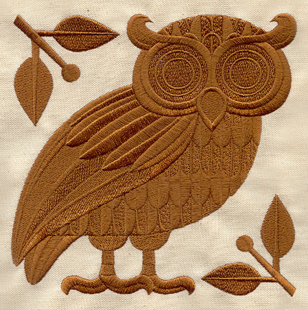 Athenas Owl Urban Threads Unique And Awesome Embroidery Designs