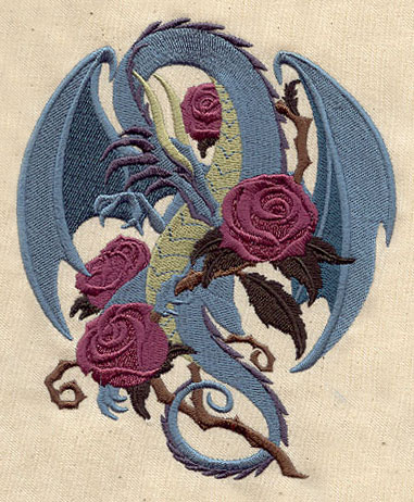 rose dragon urban threads unique and awesome embroidery designs. Black Bedroom Furniture Sets. Home Design Ideas