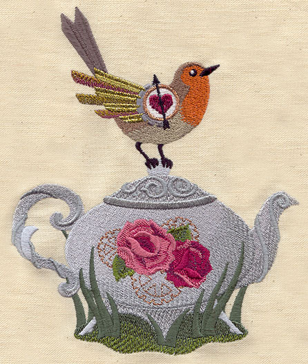 Steampunk Teatime Urban Threads Unique And Awesome Embroidery Designs