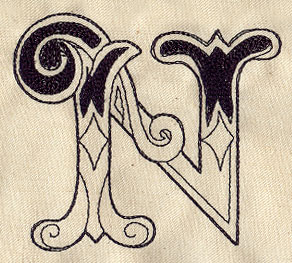 Cirque Letter N Urban Threads Unique And Awesome Embroidery Designs