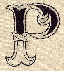 Cirque Letter P Urban Threads Unique And Awesome Embroidery Designs