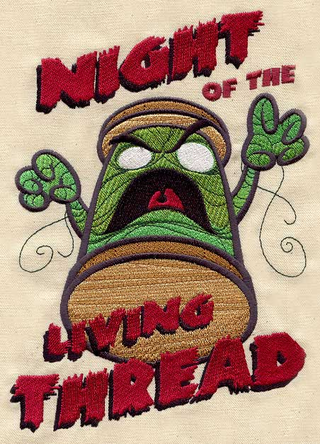 Night Of The Living Thread Urban Threads Unique And Awesome