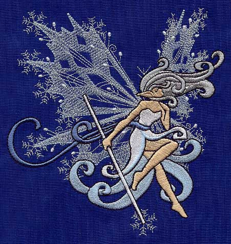 Winter Fairy Urban Threads Unique And Awesome Embroidery Designs