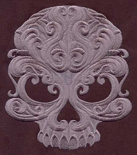 Baroque Punk Skull | Urban Threads: Unique and Awesome Embroidery