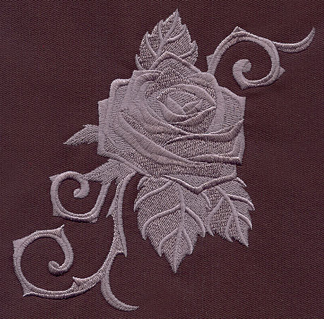 Baroque Punk Rose | Urban Threads: Unique and Awesome Embroidery Designs
