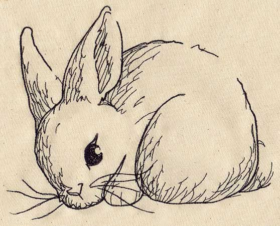 Bunny sketch urban threads unique and awesome