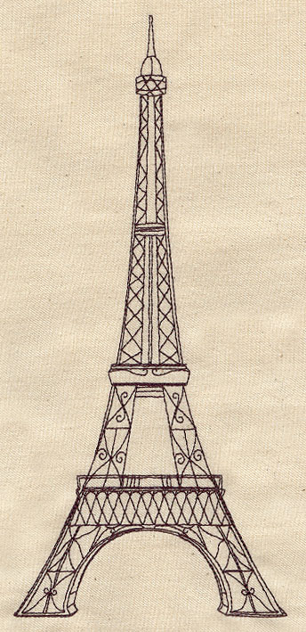 Vintage Eiffel Tower Urban Threads Unique And Awesome Embroidery