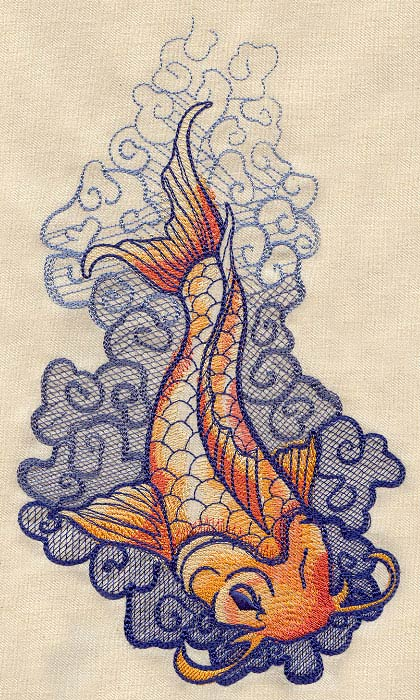 the seven seas koi tattoo urban threads unique and awesome embroidery designs. Black Bedroom Furniture Sets. Home Design Ideas