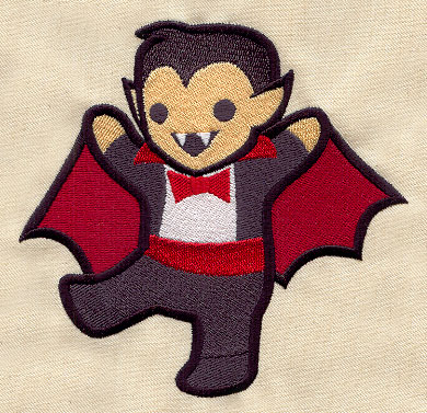 Too Cute Vampire Urban Threads Unique And Awesome Embroidery Designs