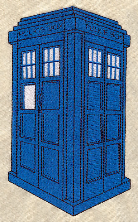 Police Box Urban Threads Unique And Awesome Embroidery Designs