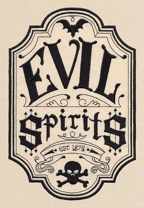 Evil Spirits Apothecary Label Urban Threads Unique And Awesome