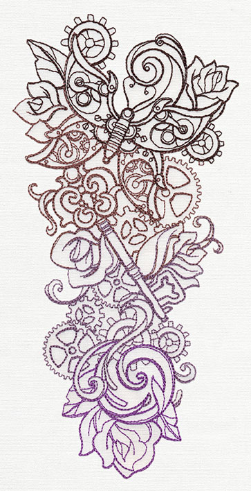 Steampunk Sleeve | Urban Threads Unique And Awesome Embroidery Designs