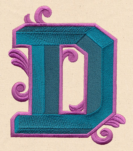 letter perfect letter d urban threads unique and awesome