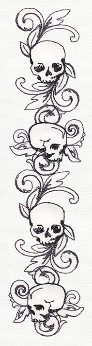 Skull Array Urban Threads Unique And Awesome Embroidery Designs