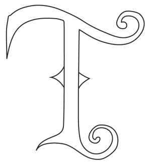 Fantasy Letter T - Uppercase | Urban Threads: Unique and ...