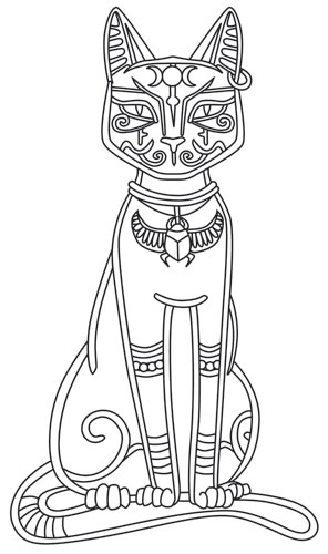 Bastet   Urban Threads: Unique and Awesome Embroidery Designs