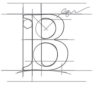Design Name Drafting Letter B