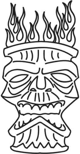 Tiki Mask | Urban Threads: Unique and Awesome Embroidery Designs