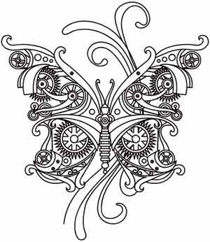 steam motifs butterfly urban threads unique and awesome embroidery designs. Black Bedroom Furniture Sets. Home Design Ideas