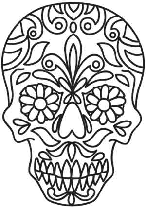 Sugar skull urban threads unique and awesome embroidery designs customers who bought this item also bought pronofoot35fo Images