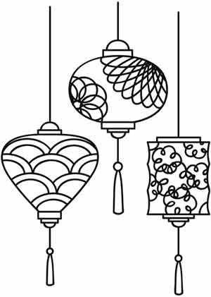 Lovely lanterns urban threads unique and awesome for Chinese lantern template printables