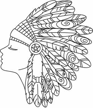 indian designs coloring pages - photo#22