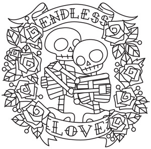Endless Love Skeletons Urban Threads Unique And Awesome