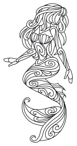 print out mermaid coloring pages - photo#28