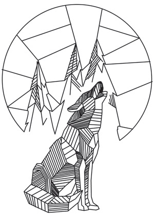 Design Name Howling Wolf