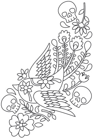 mexican flowers coloring pages - photo#22