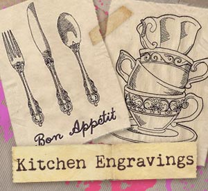 Bon Kitchen Engravings (Design Pack) | Urban Threads: Unique And Awesome Embroidery  Designs