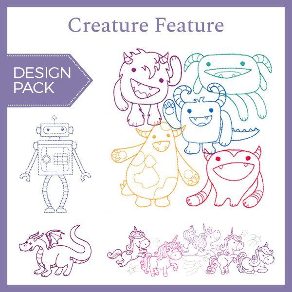 Creature Feature Design Pack Urban Threads Unique And Awesome