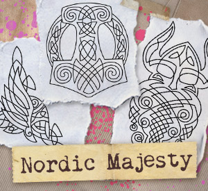 Nordic Majesty Viking Urban Threads Unique And Awesome Embroidery Designs