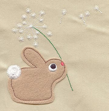 Little Wish Bunny Applique Urban Threads Unique And Awesome