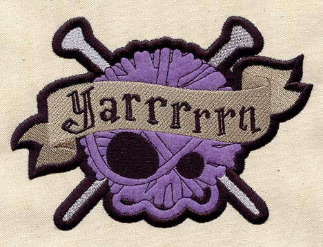 Yarrrrrn knitting patch urban threads: unique and awesome
