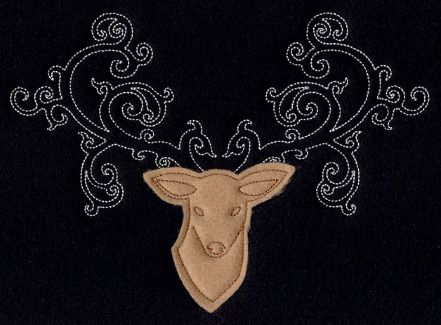 Fancy antlers applique urban threads unique and awesome