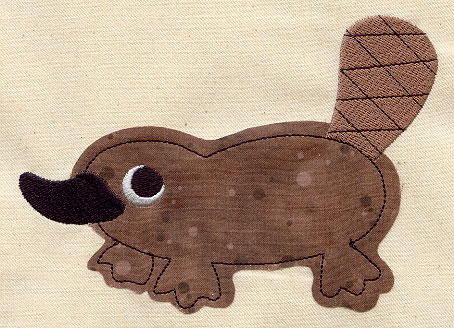 Plucky platypus applique urban threads unique and awesome