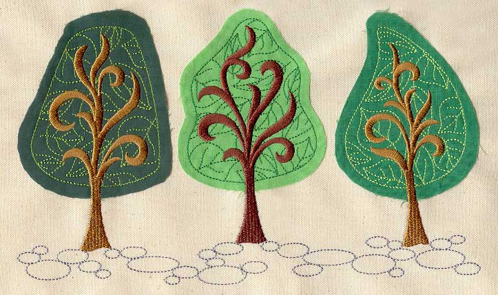 Forest for the trees applique urban threads unique and