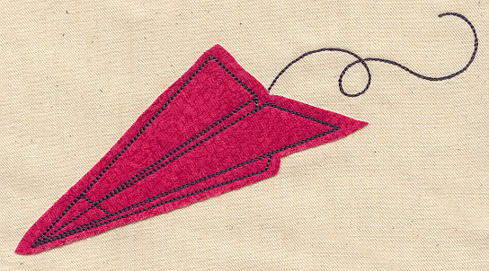 Paper plane applique urban threads unique and awesome