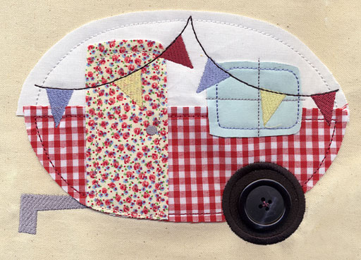 Caravan applique urban threads unique and awesome embroidery