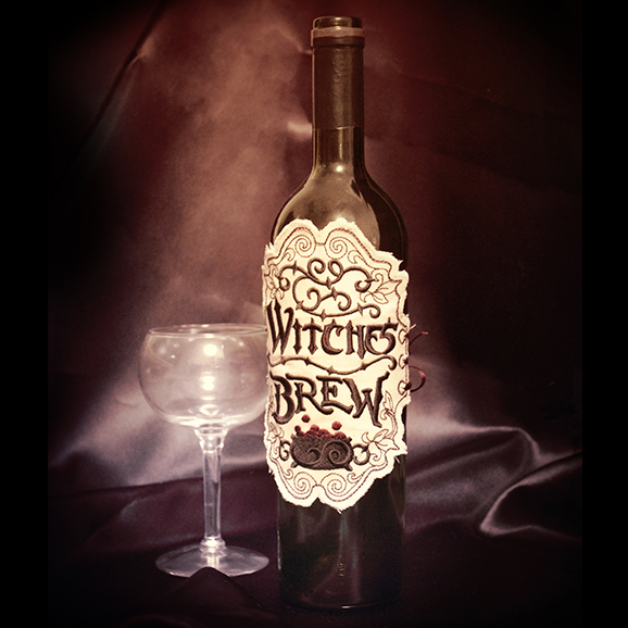Witches Brew Apothecary Label (In the Hoop) | Urban Threads: Unique
