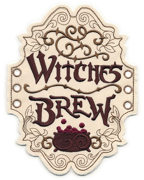 Witches Brew Apothecary Label (In the Hoop) | Urban ...