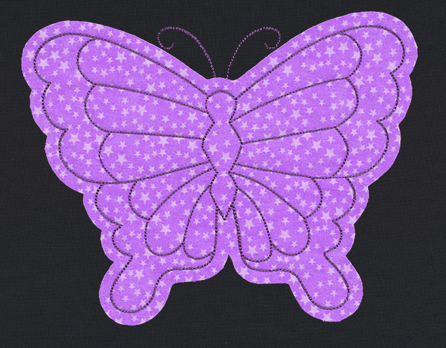 Flash stitch butterfly applique urban threads unique and