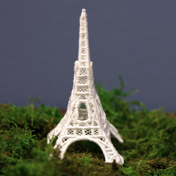 Eiffel Tower Lace Urban Threads Unique And Awesome Embroidery