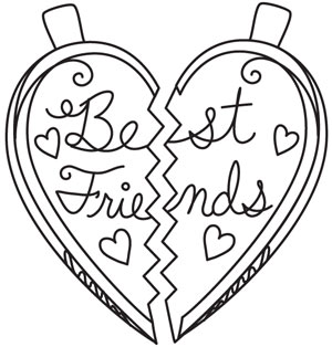 bffl coloring pages - photo#33